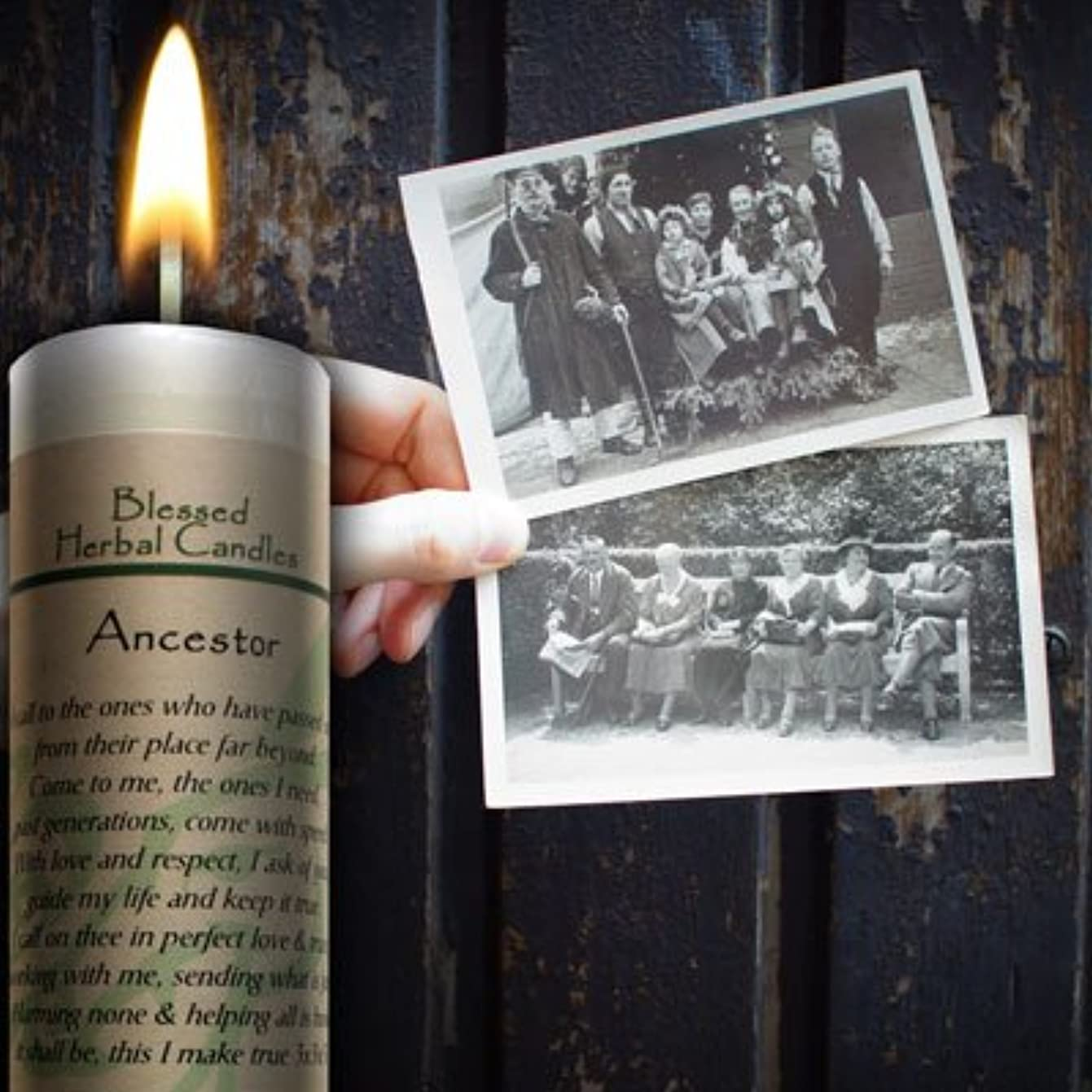 滝決定的消費Blessedハーブ祖先Candle