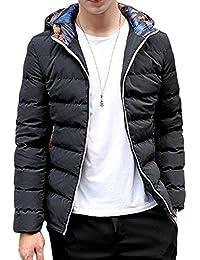 YFFUSHI 中綿ジャケット メンズ 防寒 M-5XL 無地 全3色 カジュアル シンプル チャック ダウンコート ライトダウン きれいめ 柔らかい