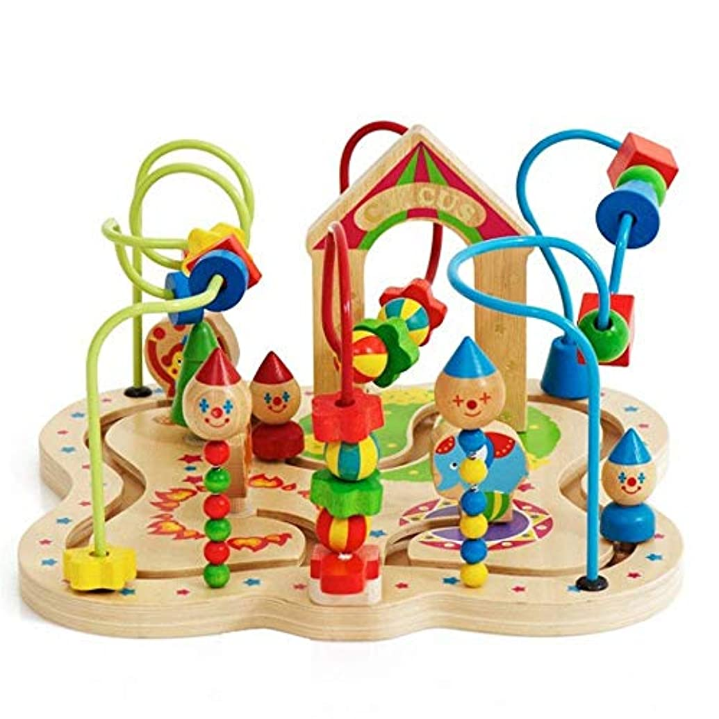 素敵な縮約ロマンス頭脳ゲームザ?ファースト?ビーズ迷路木製教育玩具であるベストのために赤ちゃんや幼児(カラー:マルチカラー、サイズ:フリーサイズ) Soul hill (Color : Multicolored, Size : Free size)