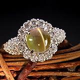 クリソベリルキャッツアイ2.9ct ダイヤモンド0.94ct プラチナ リング(指輪)
