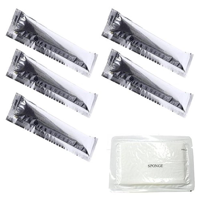 宿泊施設歯科医女王12ml 携帯に便利な使いきりサイズのスティックローション 5本 + 圧縮スポンジセット