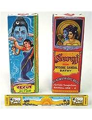 Suraj ストレスリリーフサンダルウッド香 - ミソールサルダル風呂 12パックで販売