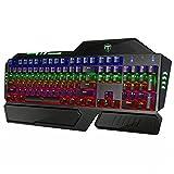 Patech メカニカルゲーミングキーボード 104キー ⻘軸 マルチライティング アンチゴースティング対応 Windows XP/7/8/10/VISTA Mac OS Xなど対応