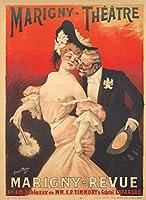 marigny-theatre–marigny-revueヴィンテージポスター(アーティスト: Redon )フランスC。1905 12 x 18 Art Print LANT-74181-12x18