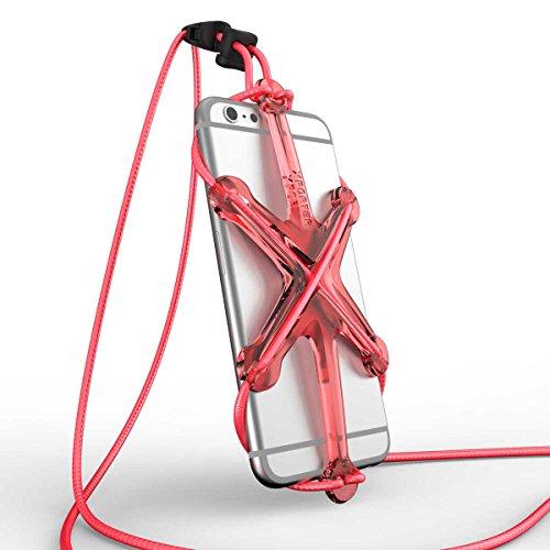 XPORTER NEO スポーツ用ストラップ・ホルダー for iPhone 6/6plus/6s & Smartphones ランニング・ジョギング・サイクリングに最適 (レッド&ピンク)