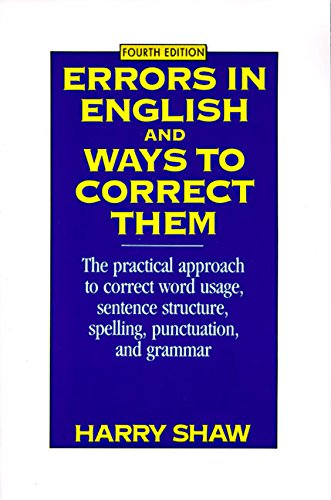 Download Errors in English and Ways to Correct Them: Fourth Edition 0064610446
