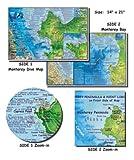 Franko 'sマップMonterey Bay California防水Folding Scuba Dive Divingマップ