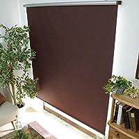 グラムスタイル ロールスクリーン 1cm単位 サイズ指定無料 (一級遮光 遮熱 幅220cm 高さ250cm) ダークブラウン