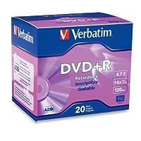 Verbatim–16x DVD + Rメディア4.7GB–120mm標準–20パックスリムケース