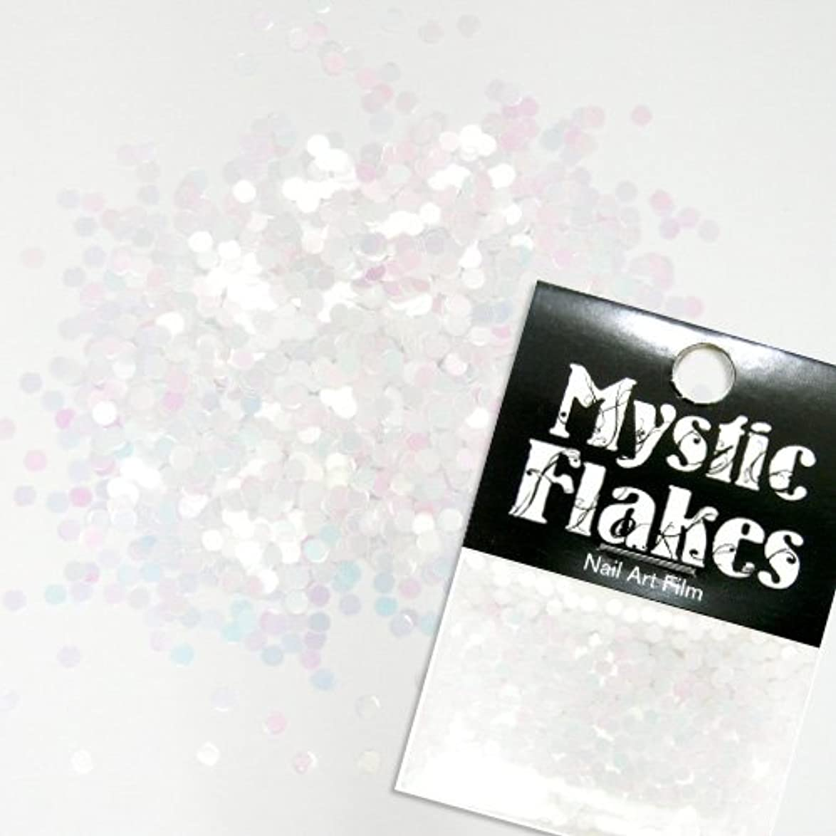 ミシン目宗教的な受粉者ミスティックフレース ネイル用ストーン パステルホワイト サークル 2mm 0.5g
