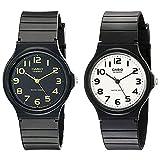 [カシオ]CASIO ペアBOX付 ペアウォッチ シェア メンズ レディース チープカシオ レトロ シンプル 簡単 防水あり ブラック MQ-24-1B2MQ-24-7B2 腕時計[並行輸入品]