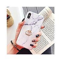 高級ひび割れ大理石電話ケースiphone 11プロマックスXSマックスXR 6 6 s 7 8プラスXソフトバックカバーCoque指輪,For iPhone 11Pro Max,Stand White