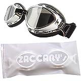<BN鏡面> バイク ゴーグル ABS樹脂製 シンプル スポーティー ZACCARY's ソフトジッパー 遮光防水バッグ (パッケージ) セット オートバイ <BN鏡面>