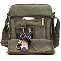 Men's Shoulder Bag, Popoti Handbag Canvas Crossbody Bag Shopping School Backpack Messenger Carrying Bags Tote Purse Multifunction Small Pockets
