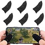 Newseego 荒野行動 PUBG Mobile スマホゲーム 指サック 6個入り スマホ指サック 手汗対策 指カバー 銀繊維 高感度 操作性アップ 超薄 手触り良く 優れたゲーム体験 iPhone/Android/iPadなどに対応