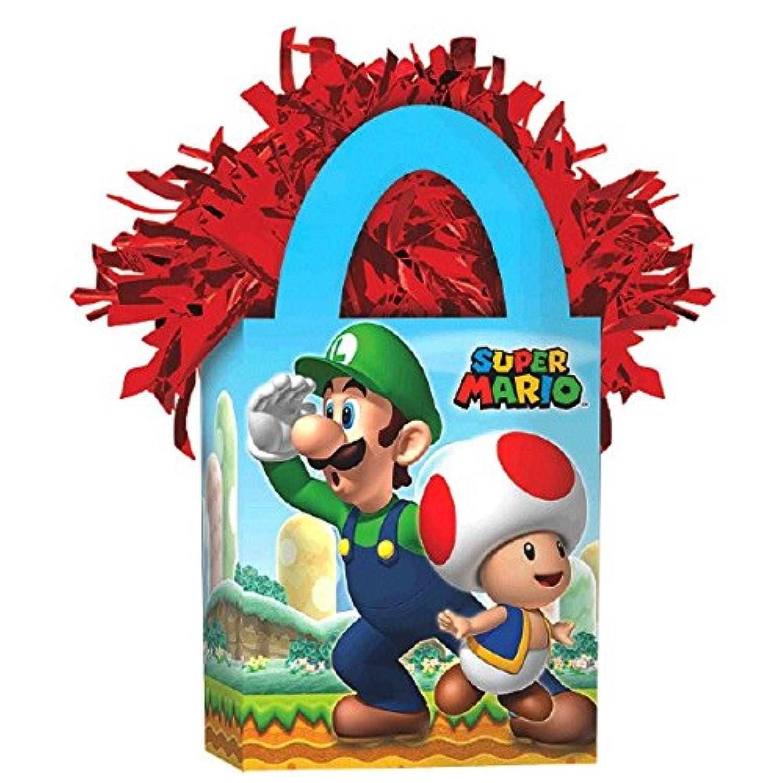 Amscan Boys Super Mario Brothers Miniトートバッグパーティーバルーン重量、5.7オンス、ブルー/レッド