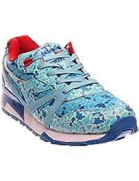 Diadora n9000Avioメンズブルーレザー&メッシュアスレチックレースUp Running Shoes