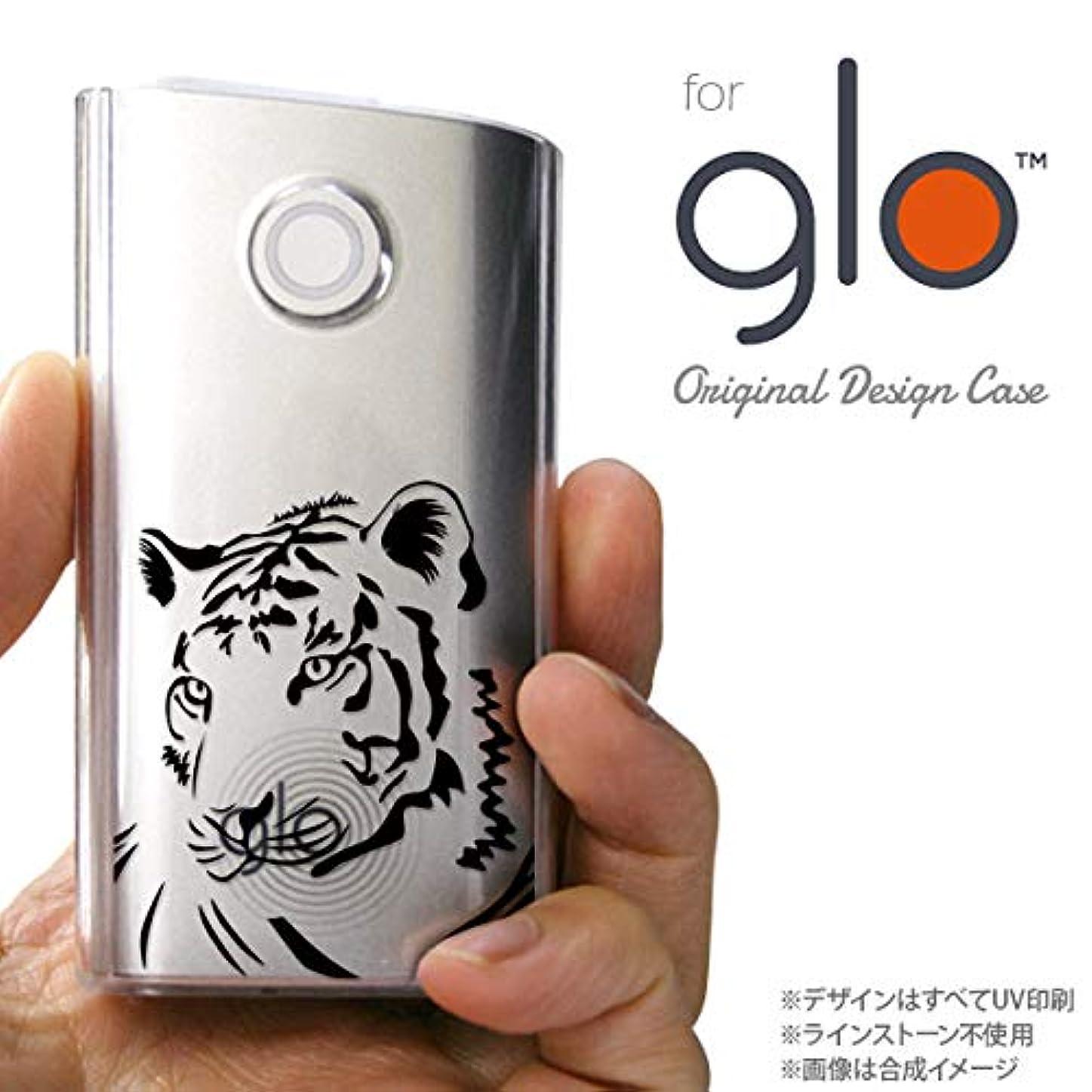 強大なミシン蛾glo グローケース カバー グロー 虎(アップ) クリア×黒 nk-glo-564
