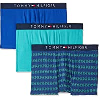 TOMMY HILFIGER Men's Cotton Trunks, Claret/Navy/Class, Medium, Pack of 3