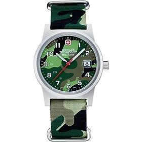 WENGER (ウェンガー) 腕時計 スイスミリタリー フィールドクラシック 日本限定カモフラージュ NATOタイプナイロンストラップ W72912 メンズ