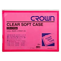 クリヤー ソフトケース【赤】 CR-CFB4-R