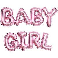 Baby Girlバルーンピンク|女の子|赤ちゃん女の子のベビーシャワーデコレーション、ベビーシャワーホイルバルーン文字| Mylar Balloons Girl、18インチ