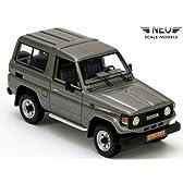 ネオ 1/43 トヨタ ランドクルーザー 70 シリーズ 1985 グレーメタ