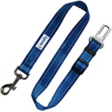 Zenify Dog Car Seat Belt Lead - Heavy Duty Durable Leash for Dogs Puppies - Pet Harness Vehicle Safety (Blue)