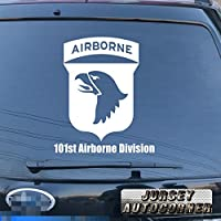 3s MOTORLINE 101st Airborne Division Infantry Insignia Eagles US Armyデカールステッカー車ビニールPickサイズカラー 16'' (40.6cm) ブラック 20180327s3