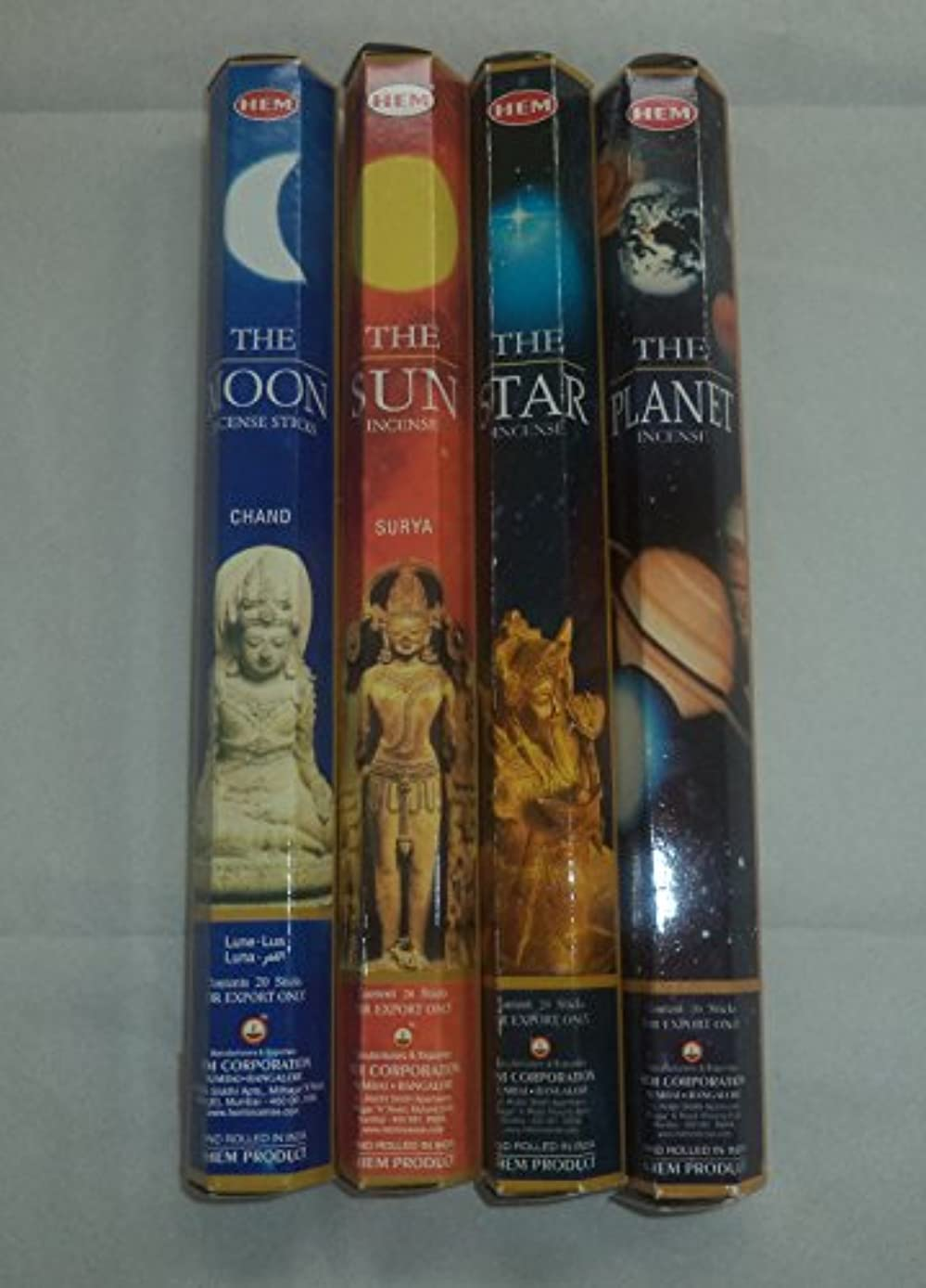 予知プロット謎裾太陽、月、星、Planet 80 Incense Sticksさまざまなコンボ4 x 20スティック