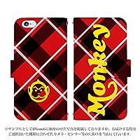 iPhone XR ケース [デザイン:15.モンキーチェック(red)/マグネットハンドあり] Honda Super CUB スーパーカブ 手帳型 スマホケース カバー アイフォン アイホン てんあーる ipxr