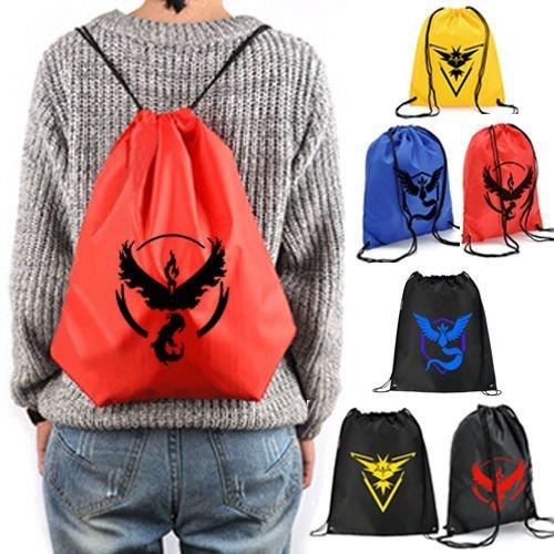 Generic yellow mark : Team Mystic lnstict Valor Pokemon Go Drawstring Backpack Newest Sports Sack Bag Outdoor Sport Shoulder Bag Travel Gym Bag