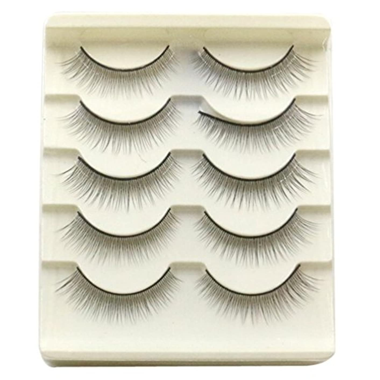 煙突理容師因子Feteso 5ペア つけまつげ 上まつげ Eyelashes アイラッシュ ビューティー まつげエクステ レディース 化粧ツール アイメイクアップ 人気 ナチュラル ふんわり 装着簡単 綺麗 極薄