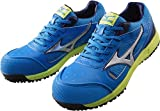ミズノ 安全靴 MIZUNO ワークシューズオールマイティ C1GA1600 24 ブルー×シルバー×ネイビー 25.5cm