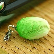ベジタブル 食品サンプル ミニチュア マスコット アクセサリー (白菜)