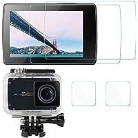 AFUNTA 液晶保護フィルム Xiaomi Yi II 4k 専用 スクリーン 保護シート 画面液晶フィルム 9H高硬度 極薄 防塵 傷を防止 耐衝撃 4枚入り(スクリーンや保護ケース用)