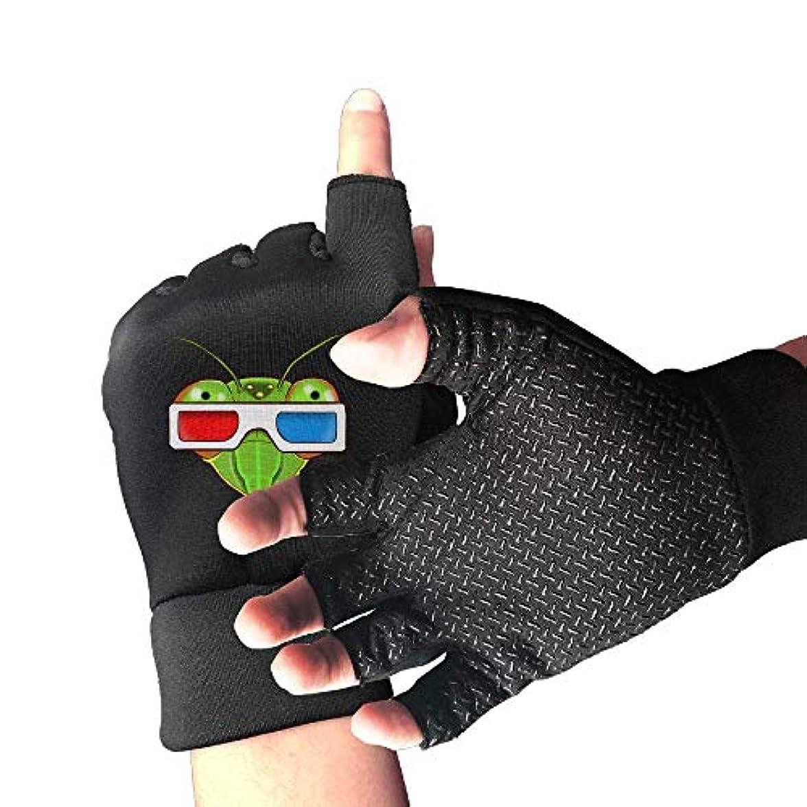 発音素晴らしいです仕事に行くCycling Gloves Cool Sunglasses Mantis Men's/Women's Mountain Bike Gloves Half Finger Anti-Slip Motorcycle Gloves