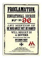 宣言教育令第96号 金属スズヴィンテージ安全標識警告サインディスプレイボードスズサインポスター看板建設現場通りの学校のバーに適した