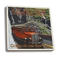 グレイシャー国立公園–going-to-the-sun Road 4 Coaster Set LANT-31000-CT