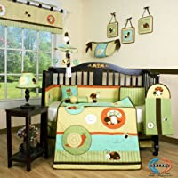 Boutique Garden Paradise 13PCS CRIB BEDDING SET by GEENNY