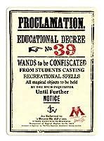 Proclamation Educational Decree NO.39 金属板ブリキ看板注意サイン情報サイン金属安全サイン警告サイン表示パネル
