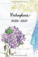 Wochenplaner 2020-2021: Netter Violett Blumen Wochen- und Monatsplaner | Terminkalender Tagesplaner | ein Liebevolles Geschenk fuer Frauen und Kollegen