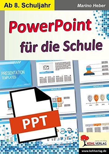 PowerPoint fuer die Schule: Kopiervorlagen zum Einsatz ab dem 8. Schuljahr