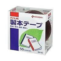 (まとめ) ニチバン 製本テープ<再生紙>50mm×10m 黒 BK-506 1巻 【×5セット】 ds-1584326