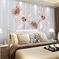 Weaeo カスタムフォト壁紙現代3D壁画風景エレガントなロータスフラワーTv壁紙壁紙装飾3D壁紙の壁紙-350X250Cm