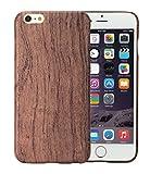 [PITAKA-正規品] iPhone 6 / iPhone 6s (4.7 インチ)用ケース 木製 ローズウッド 天然木/天然ウッド wood 和風 ナチュラル お洒落 アイフォン 6 / 6s ケース 薄 軽量 耐衝撃 高級品 木目 強化ガラスフィルム付け