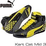PUMA レーシングシューズ Kart Cat MID3 BLACK/YELLOW サイズ42(27cm)