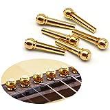 GeeSo ブリッジピン 6本入り アコギ ギター 用 エンドピン 真鍮 ブラス