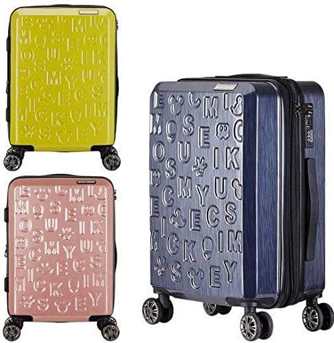 H-TRAVEL スーツケース キャリーケース SUITCASE 旅行 出張 20インチ/24インチ 機内用 手荷物用ミッキーマウス エディション(海外直送品) (ROSE GOLD, 24インチ)