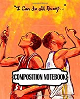 Composition Notebook: Composition Notebook Cute Drawing Photo Art Incredible Golden State Warriors Klay Curry Soft Glossy Wide Ruled Fantastic with Ruled Lined Paper for Taking Notes Writing Workbook for Teens and Children Students School Kids NBA Fan